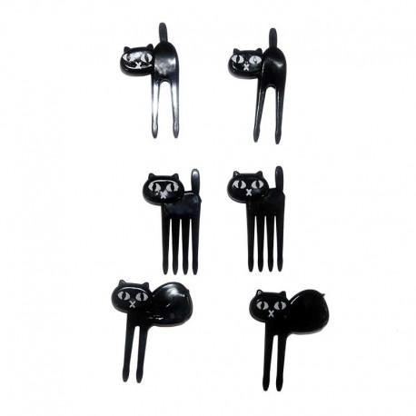Mini fourchettes à Bento Chat Noir