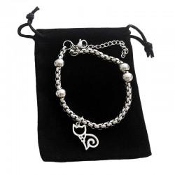 Bracelet Motif Chat Acier