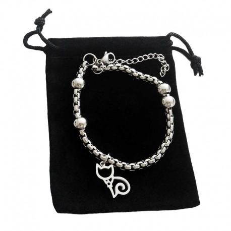 Bracelet motif de Chat Acier
