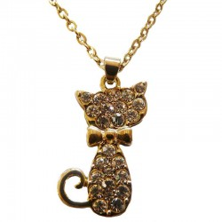Pendentif en forme de Chat ultra Brillant
