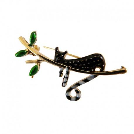 Broche en forme de Chat sur une Branche