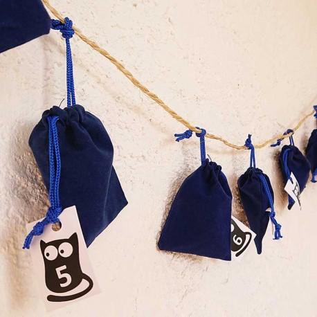 Calendrier Noël original Objets Chats Version Bleue