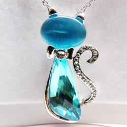 Pendentif Cristal turquoise