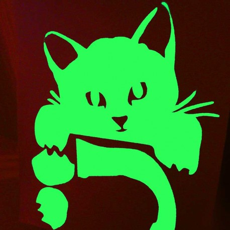 Stickers Pour Mur Chat Phosphorescents