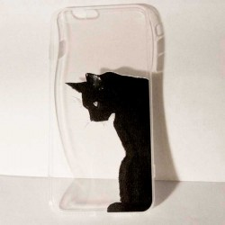 Coque Iphone 6 et 6 Plus Chat Noir Art