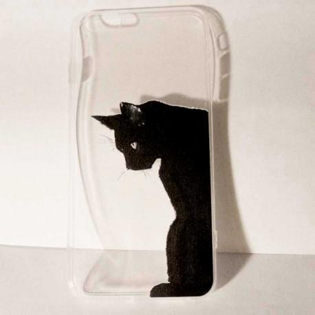 Coque pour smartphone Chat Noir Art