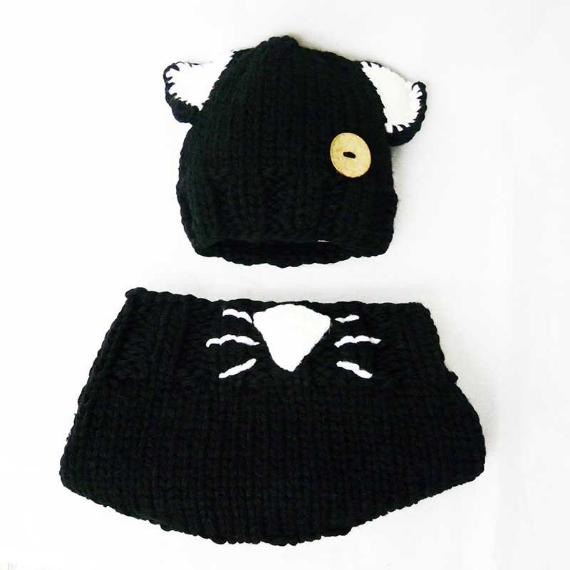 Ensemble bonnet enfant et cache-col de chat façon tricot 935b4921e02