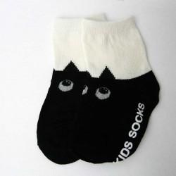 Chaussettes pour Enfant Antidérapantes Chat noir