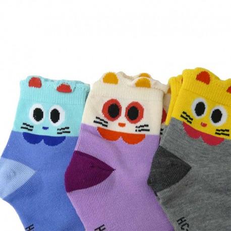 Chaussettes Colorées Enfant Chat