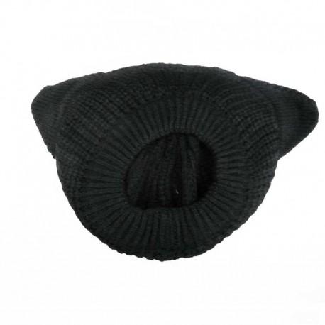 Bonnet Noir Oreilles de Chat