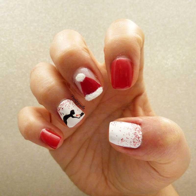 Vernis de no l produits et tuto nail art chat et no l - Nail art chat ...
