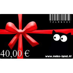 Carte Cadeau  Nekoland 40€