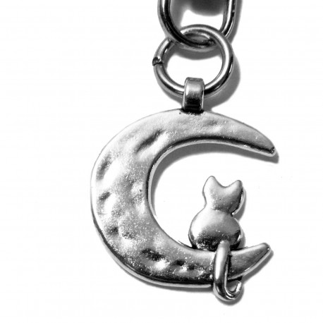 Porte-clé Chat et Lune