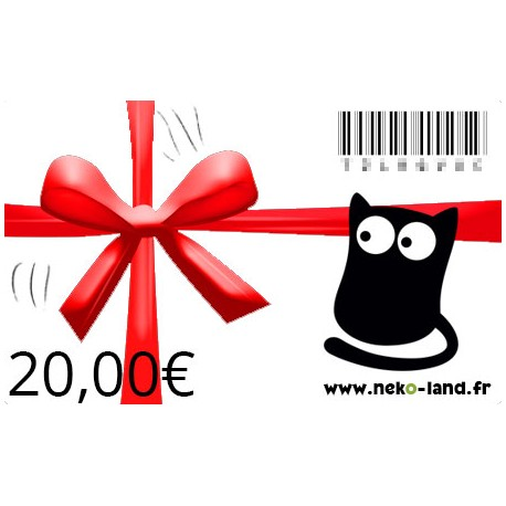 Carte Cadeau Nekoland 20 euros