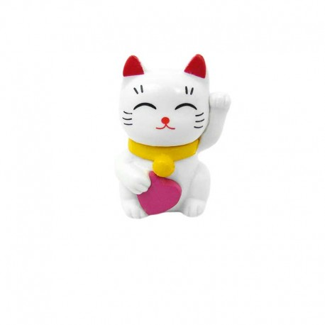 Figurine Chat Kawaii Maneki Neko Porte-Bonheur