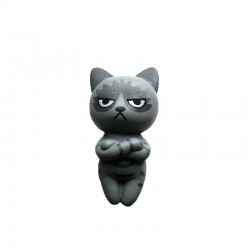 Figurine Chat Kawaii Grincheux