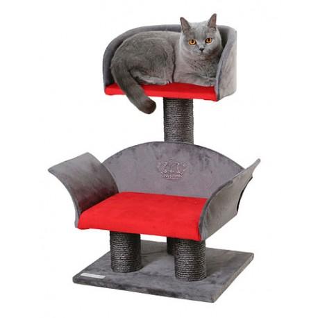 arbre chat de luxe avec fauteuil pour chat et strass. Black Bedroom Furniture Sets. Home Design Ideas