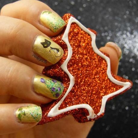 Nail Art de Chat Noël