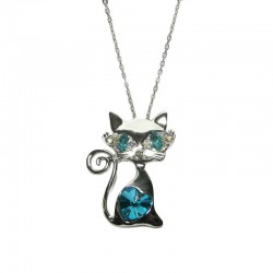 Pendentif Chat Regard intense