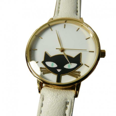 Montre Amusante Chat Noir