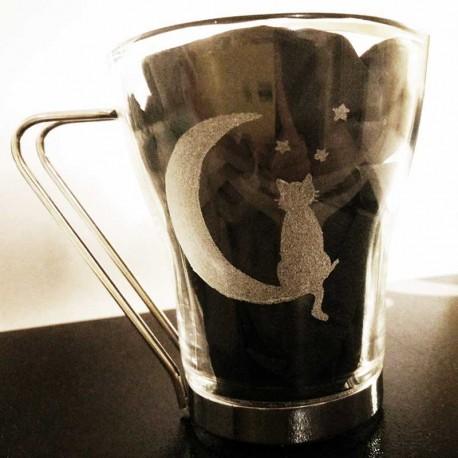 Tasse à thé originale Chat et Lune