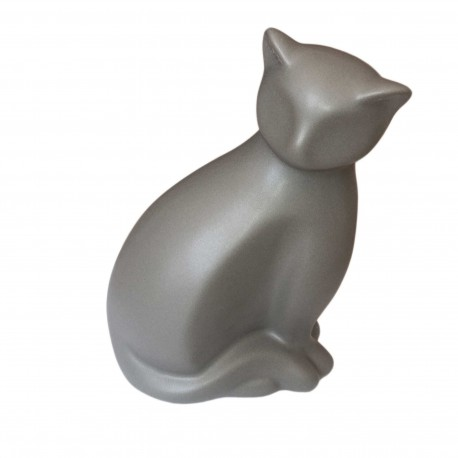 Statuette Moderne Silhouette de Chat Gris Anthracite