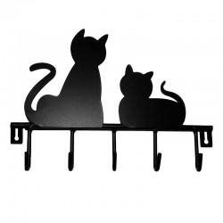 Patères Chats Métal