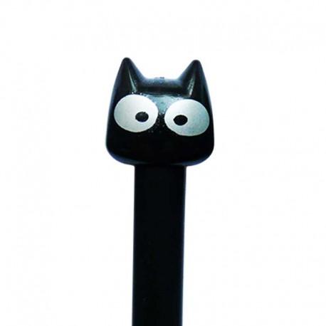 Stylo Fantaisie chat noir Yeux Argentés