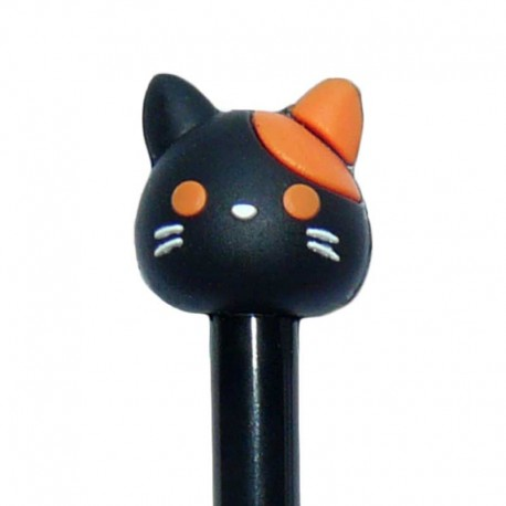 Stylo Mignon Chat Noir et Orange