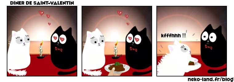 BD de Chat Humour Saint-Valentin Mascotte Nekoland
