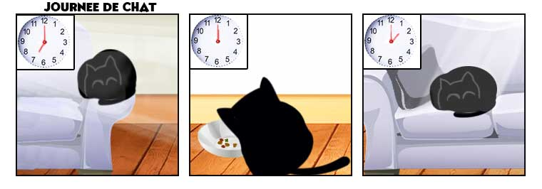 Comic Strip Chat Nekoland Journée de chat