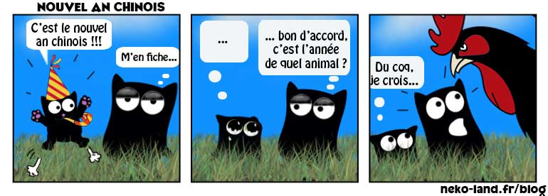 Bd avec des chats Nekoland Année du coq