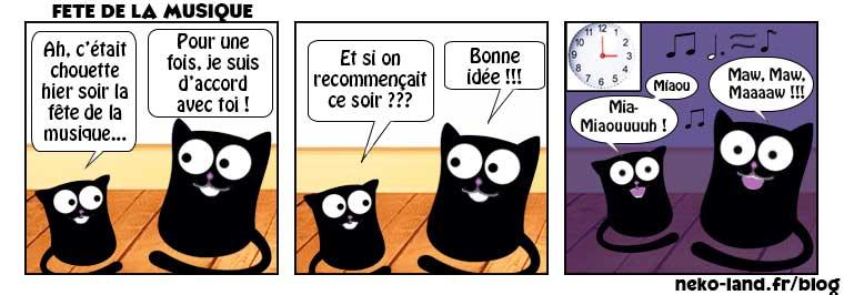 Humour De Chat Pour La Fete De La Musique Sur Le Blog Nekoland