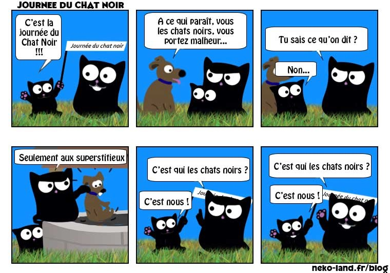 BD Humour Chat Journée du Chat Noir 2017