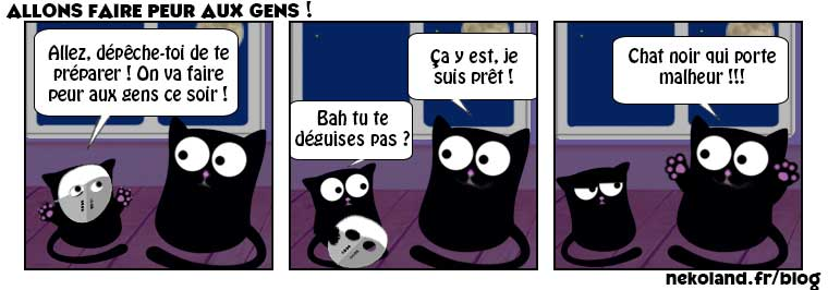 BD chat drôle Halloween 2019