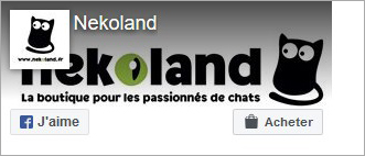 Page Facebook de la boutique chat Nekoland