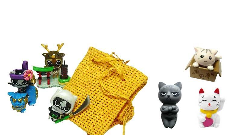 Figurines de Chats Kawaii en pochettes surprises ou à l'unité